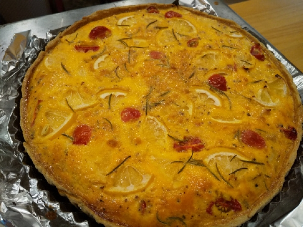 Lemon and Chicken Quiche
